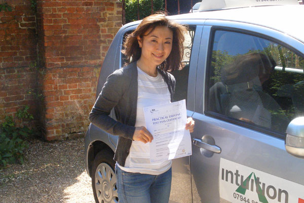 Success with Intuition driving lessons
