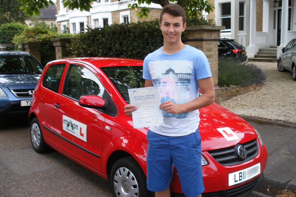 Theo Intuition driving lessons East Molsesey