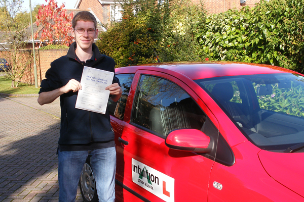 Niall Intuition driving lessons Cobham