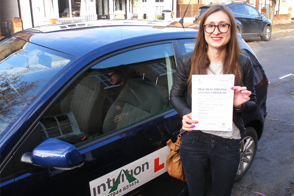 Ellie Intuition driving lessons Weybridge