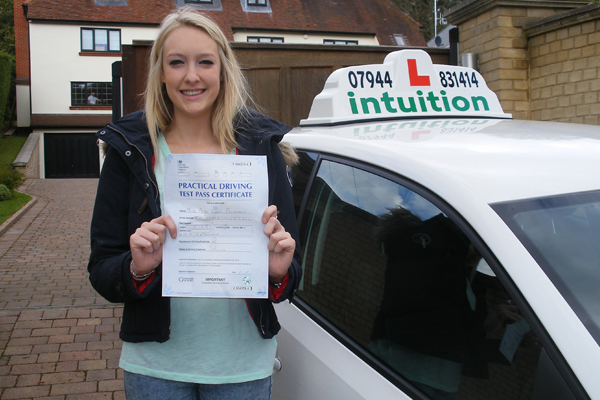 Paige Intuition driving lessons Cobham