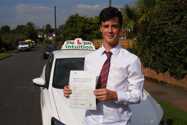 Jordan Intuition driving lessons Weston Green