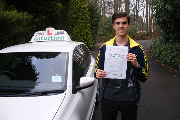 James Intuition driving lessons Cobham