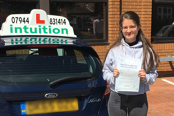 Camille driving lessons in Claygate and Paris