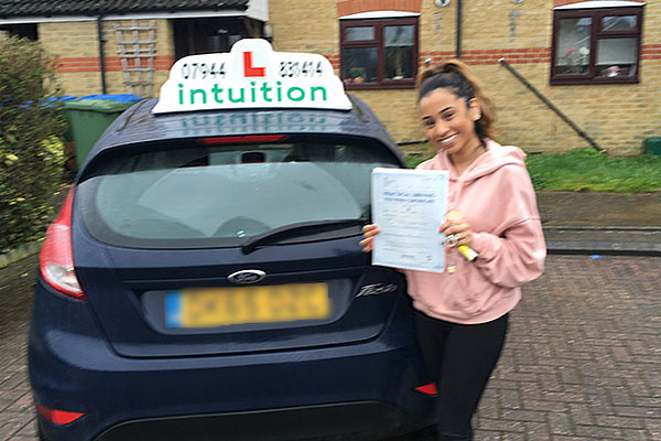 Halima driving lessons in Esher