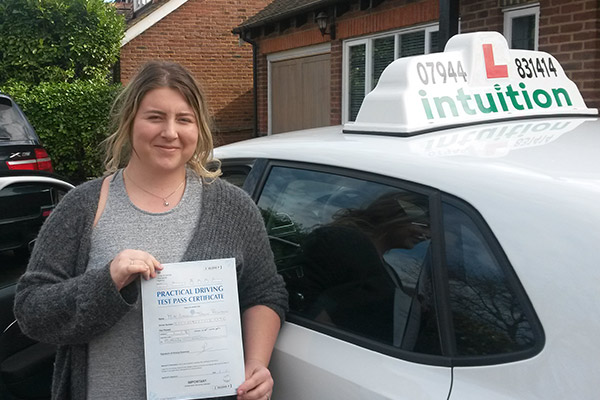 Harriet Intuition driving lessons Hersham