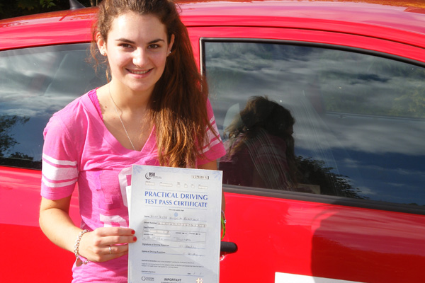 Katie Intuition driving lessons East Horsley