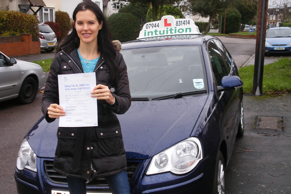 Katie Intuition driving lessons Hampton Hill