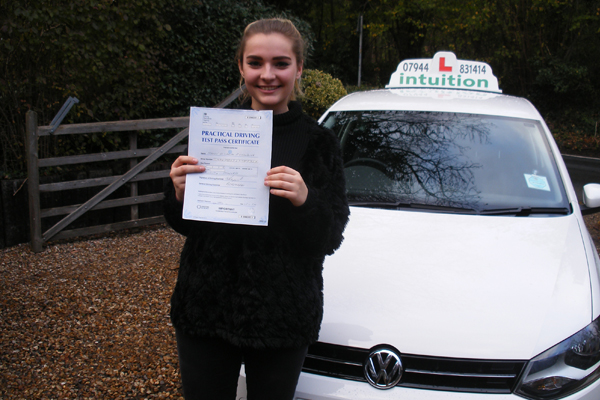 Maisie Intuition driving lessons Claygate