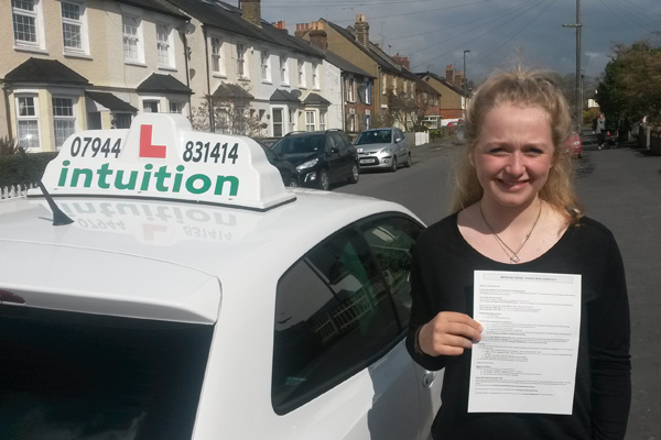 Scott Intuition driving lessons Surbiton